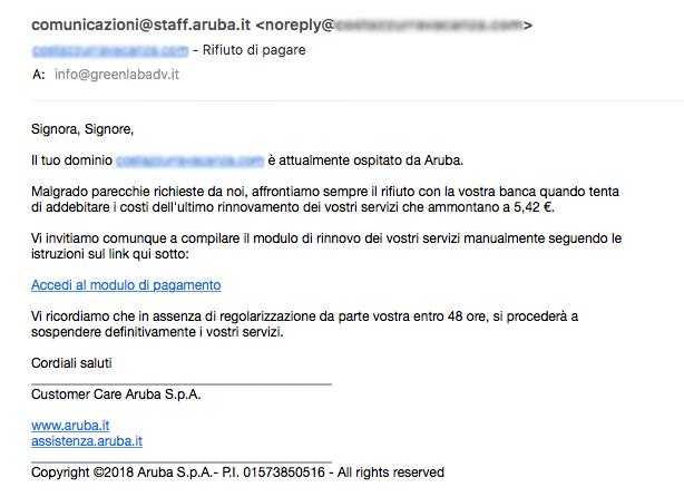 phishing aruba greenlab